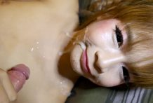 18yo big-boobed Thai ladyboy receives a full facial from white tourists knob