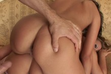 2 lovable lesbos getting vaginas nailed rear end by a chisel schlong