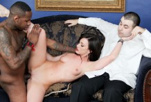 Displaying her hubby how a real fellow should bang her