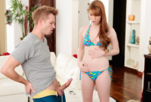 Bratty teenage Gwen Stark receives smashed by her stepbrother