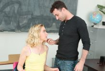 Lewd Chloe Couture disciplined in snatch plumbing by James Deen
