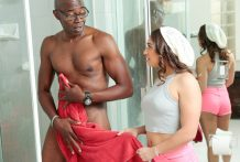 Lustful dame Sara Luvv copulates her BFF's daddy's large dark man-meat.