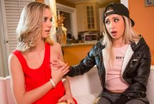 Goldie Rush receives initiated to lesbo enjoy by Rachel James