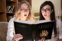 Whitney & Carter grow to be lesbians by way of studying a magic spell