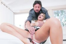 Horny Brooklyn Chase's massive titties jump whilst getting fucked.