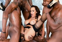 Lisa Ann's Interracial DP BBC Gangbang