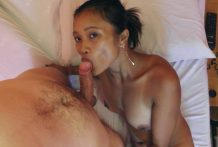 Petite Pinay hustler with great tits enjoys white cock