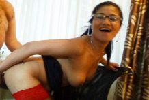 Horny Filipina businesswoman savors white dick