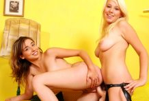 Golden-haired Teenage Lesbo Enjoy