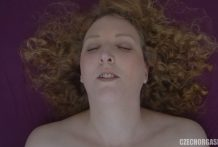 Curly Woman Massages her Clit