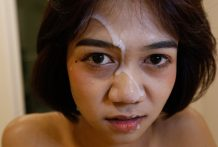 18yo candy Thai ladyboy will get a face-full of cum from BWC
