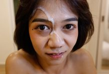 18yo Thai ladyboy will get cum facialized via white cock