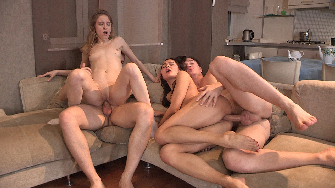 Foursome Swinger Fuck Birthday Party  Grls Video-9619
