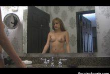 Zoey Violet topless in the mirror